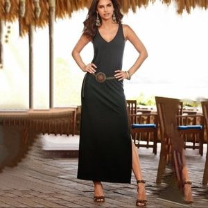 Boston Proper Black Travel Maxi Dress
